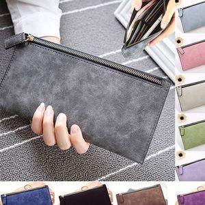 Handbags - Vegan Leather Clutch Wallet